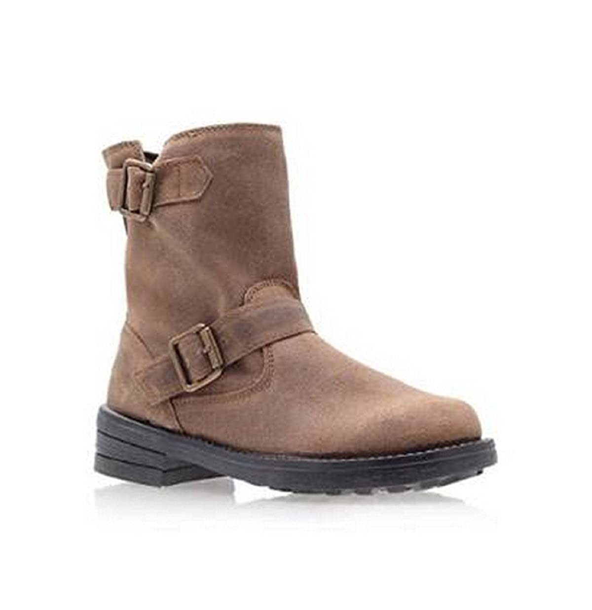 amazing price popular brand professional sale MISS KURT GEIGER Suede Leather Ankle Boots with Double Buckle ...