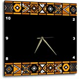 3dRose DPP_76556_1 Brown & Black African Pattern Art of Africa in spired by Zulu Beadwork Geometric