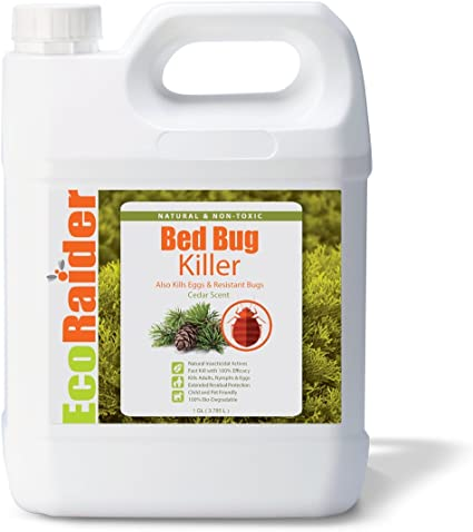 Amazon Com Ecoraider Bed Bug Killer Spray Jug Green Non Toxic 100 Kill Extended Protection 128 Fl Oz Pack Of 1 Insect Repelling Products Garden Outdoor