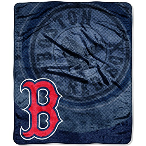 "MLB Boston Red Sox Retro Plush Raschel Throw, 50"" x 60"""