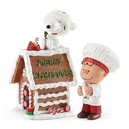 Department 56 Possible Dreams Snoopy s Gingerbread House Figurine, 7 inch