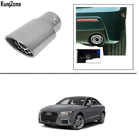 KunjZone Car Exhaust Tube in Tube Silencer 12 Hole Muffler Tip for