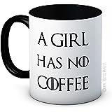 A Girl Has No Coffee - Arya Stark Game of Thrones Parodie - Hochwertigen Kaffee oder Tee Tasse