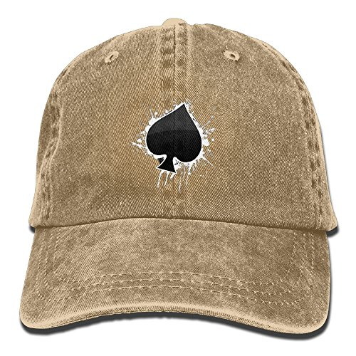 Poker Cotton Hat - Unisex Adult Poker Ace Of Spades Adjustable Cotton Denim Baseball Cap Hat