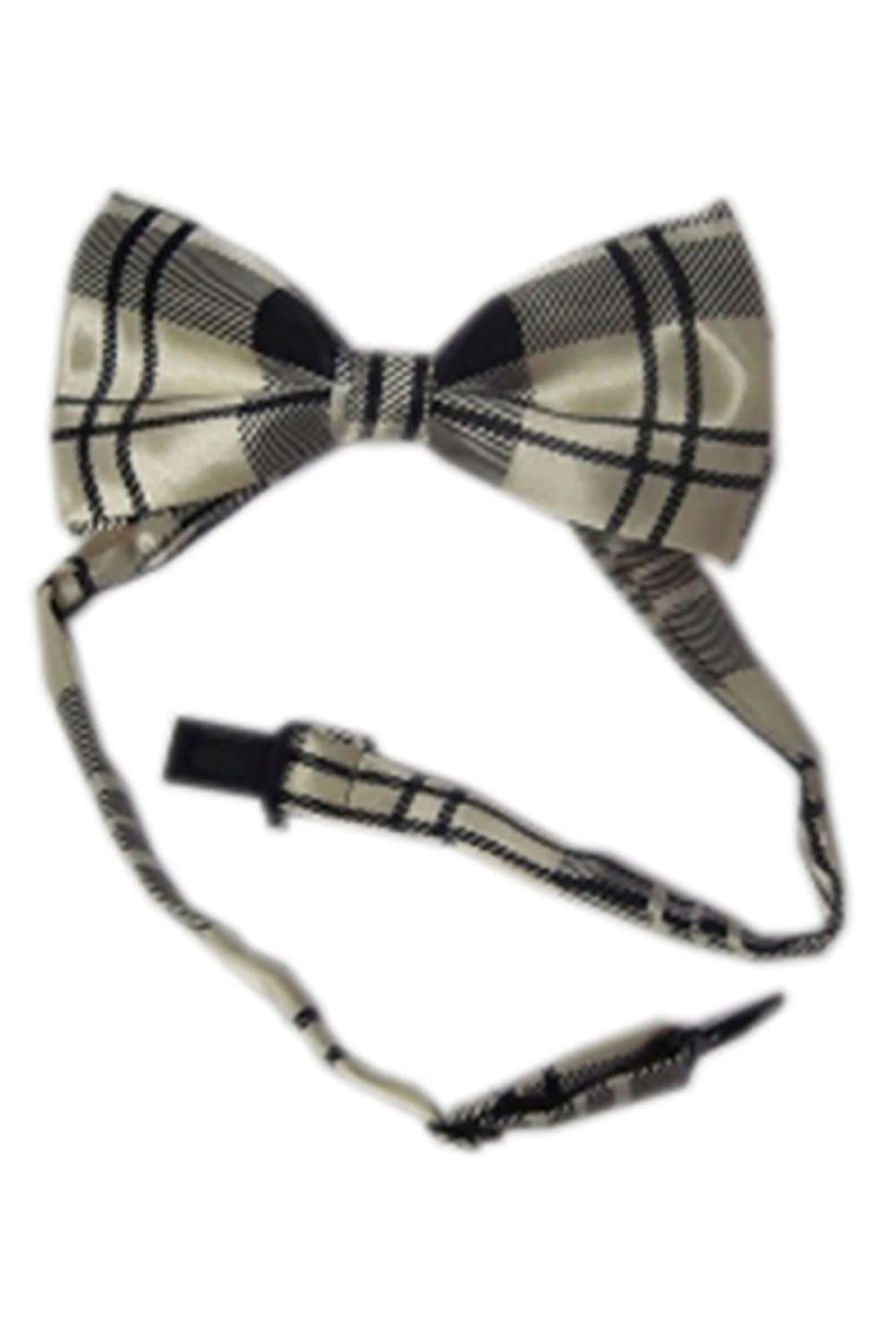 Adults Checked And Plain Pre Tied Party Wear Bow Tie Mens Party Wear Fancy Accessory