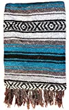 Best Sanyork Fair Trade Picnic Blankets - Authentic Mexican Yoga Blanket - Blue Review