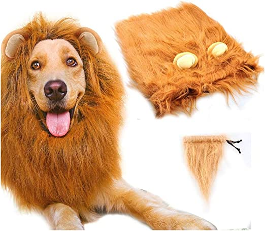 HAMISS Peluca de Melena de león para Perro, Disfraz de Melena de ...
