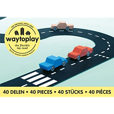 Way To Play Toys Flexible Race Track Toy Road Set King of the Road 40 Pieces: Toys & Games
