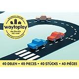 waytoplay 40 King of The Road, Schwarz mit Weiß Striping, 648 cm