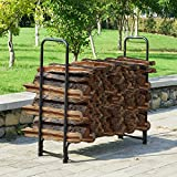 Earth Worth 83-DT5200 1902 Firewood Log Rack | 4 ft | Black