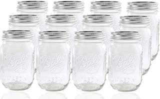 product image for Ball Glass Mason Jar with Lid and Band, Regular Mouth, 12 Jars New version