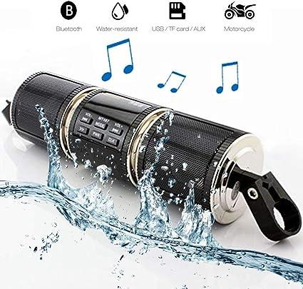 MASO - Altavoces estéreo Bluetooth para Motocicleta, Impermeable ...