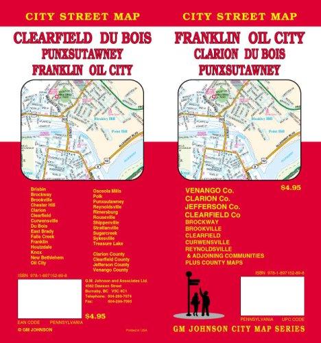 Franklin  Pennsylvania   Oil City   Clarion   Du Bois   Clearfield   Punxsutawney Street Map