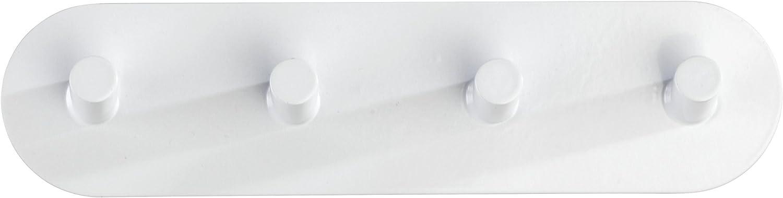 2 x 19.8 x 5 cm Wei/ß Wenko Hakenleiste Piceno Quadro Matt Garderobenleiste Edelstahl Rostfrei Selbstklebend 4 Haken