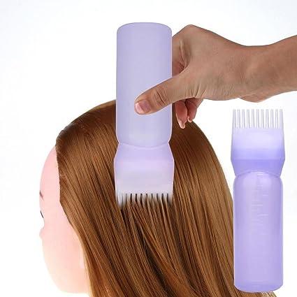 Diadia - Aplicador de peluquería con cepillo graduado peine peluquería teñido de peluquería, 2 unidades, color morado