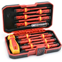 RDEER 1000V Insulated Screwdriver Set with Magnetic Phillips Slotted Pozidriv Torx