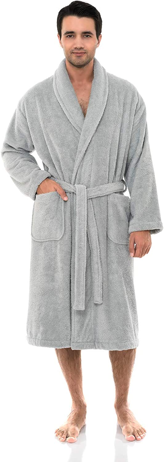 TowelSelections Men's Robe, Organic Cotton Terry Shawl Bathrobe