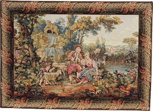 Tapestry, Extra Large, Wide - Elegant, Fine & Wall Hanging - Romantic Musical Interlude-01, (Interlude 1 Light)