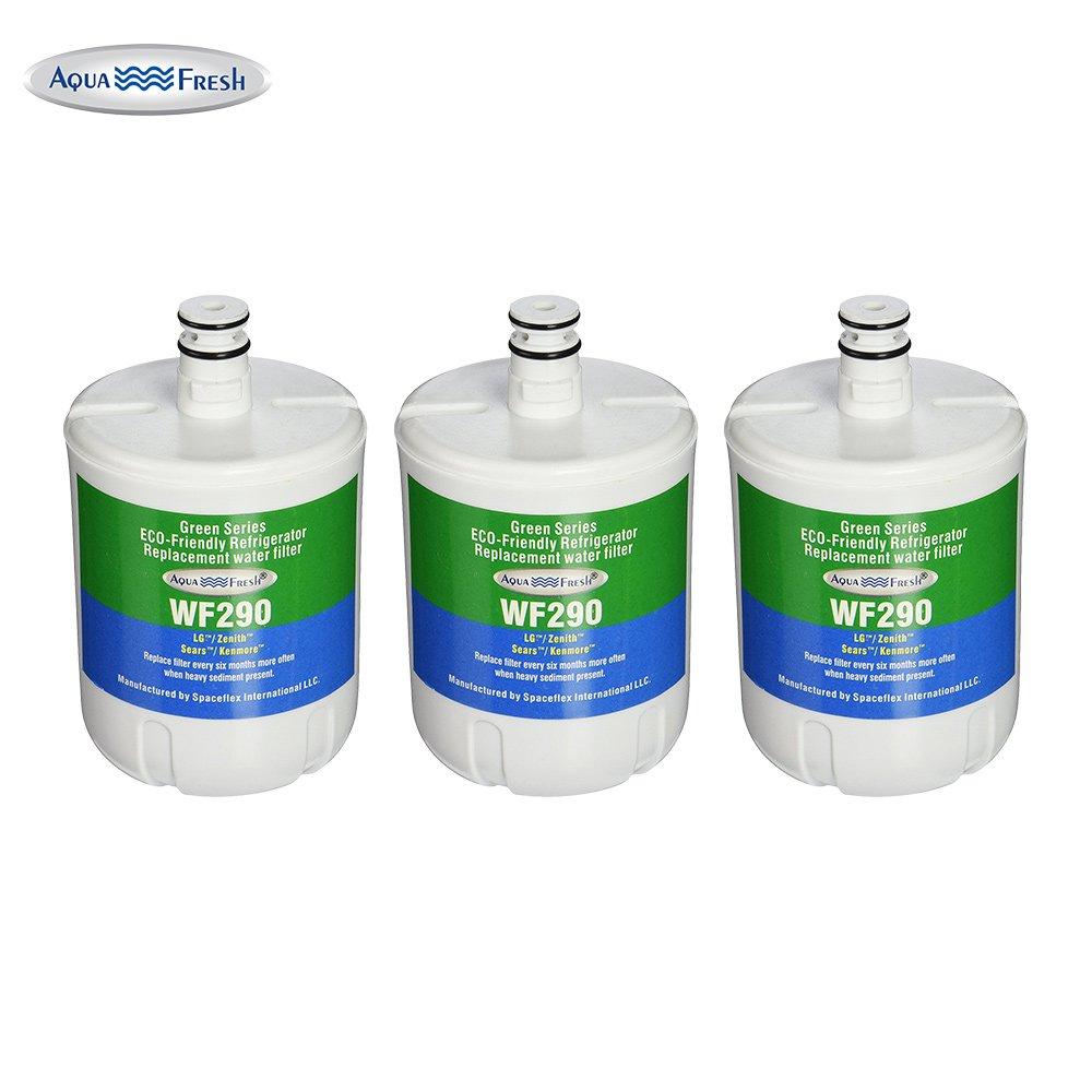 Aqua Fresh WF290 Refrigerator Water Filter, Compatible with LG Refrigerators LFX25974ST, LFX25973ST, LFXS24566S, LMX25964ST (3 Pack)