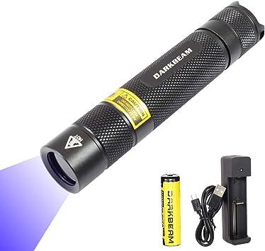 Alonefire SV003 10W 365nm UV Flashlight Portable Rechargeable Blacklight