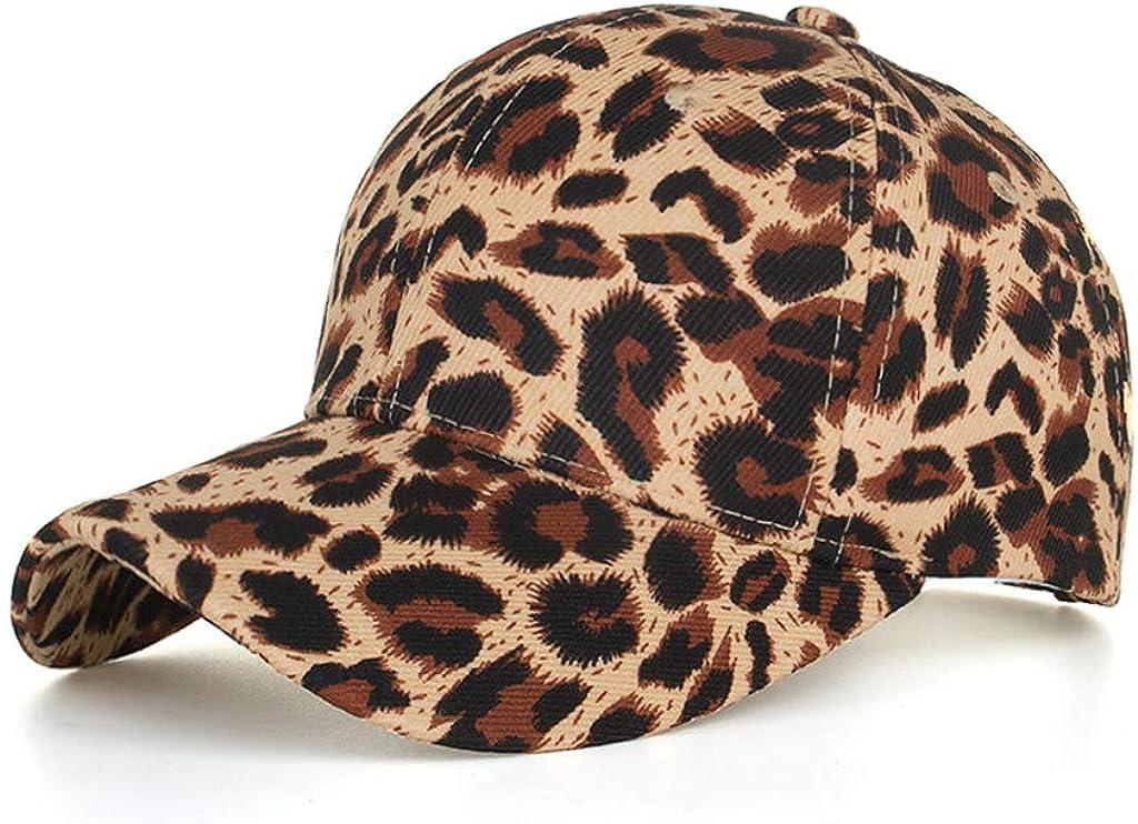 Zeside Cotton Leopard Baseball Cap Cap Sun Hat Travel Sun Visor Straw Hat Beach Hat Adult Summer Excellent Sun Uv Protection Strong Anti-Uv Function