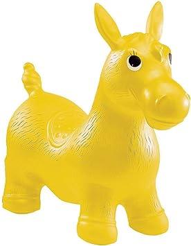 John Hop Hop Pony Gelb Sprungtier H/üpfpferd H/üpfesel Hopser Springpferd Sitztier