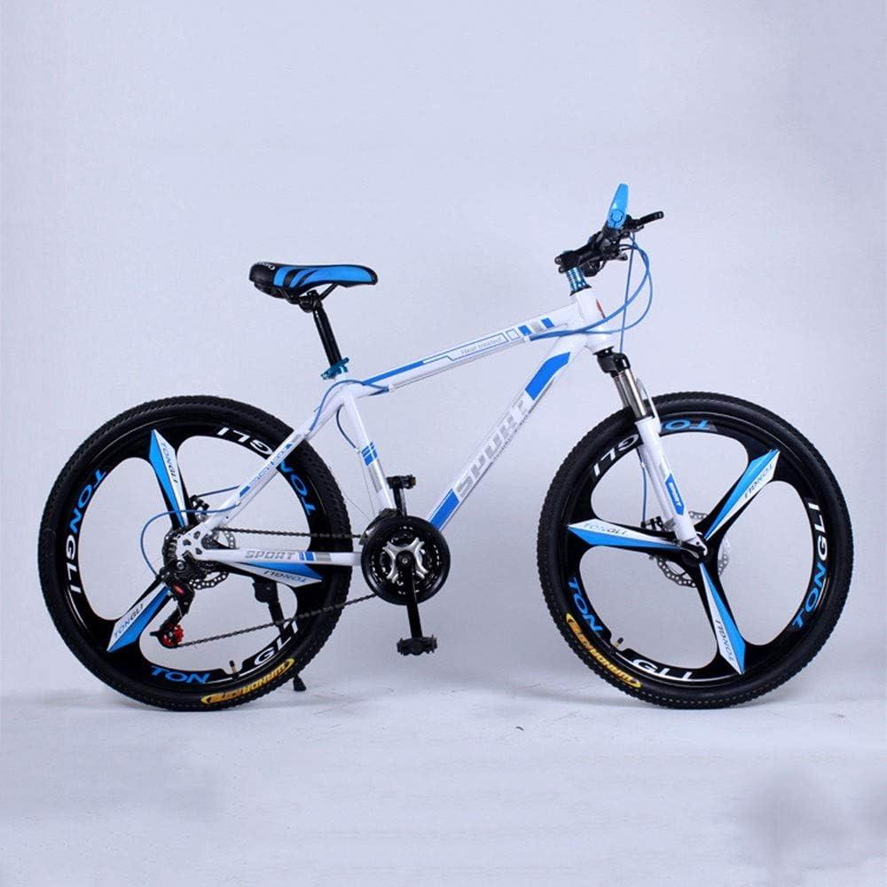 YXWJ Bicicleta de montaña 21/24/27 velocidad Doble freno de disco 24/26 pulgadas de velocidad variable de coches Estudiante de educación infantil masculino fuera del camino de la bicicleta ciclismo de