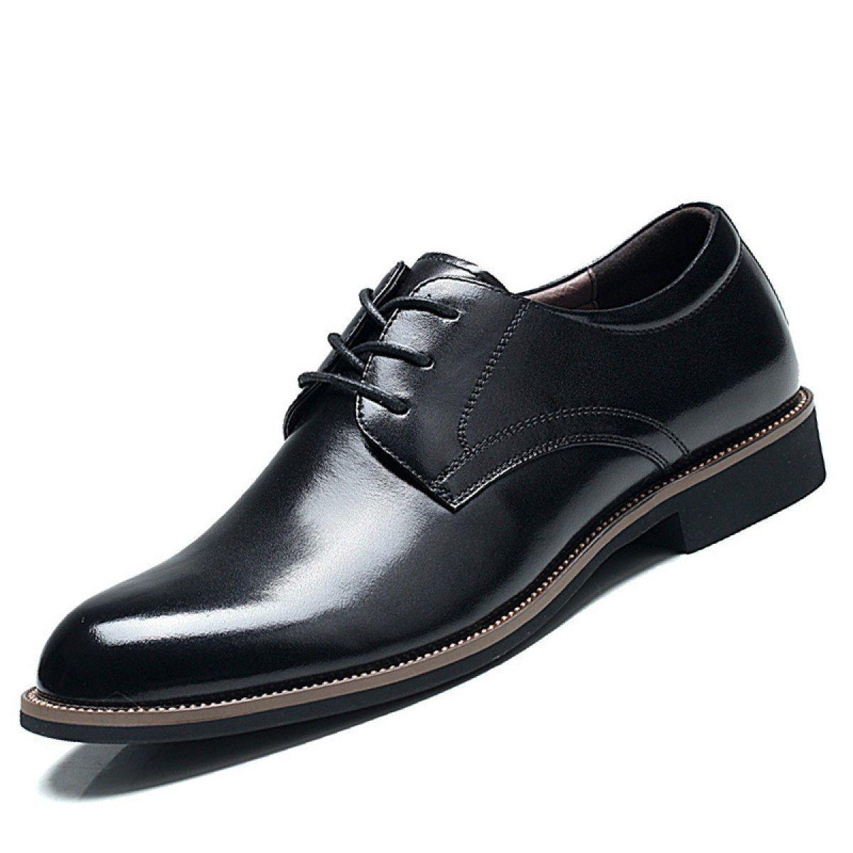 Männer Erste Schicht Aus Leder Herrenschuhe Freizeitschuhe Business Schuhe Gummi Platte Schuhe Business Freizeitschuhe Schuhe Spitze Außensohle Niedrig Zu Stanzen Leder Schuhe schwarz 8a61ec