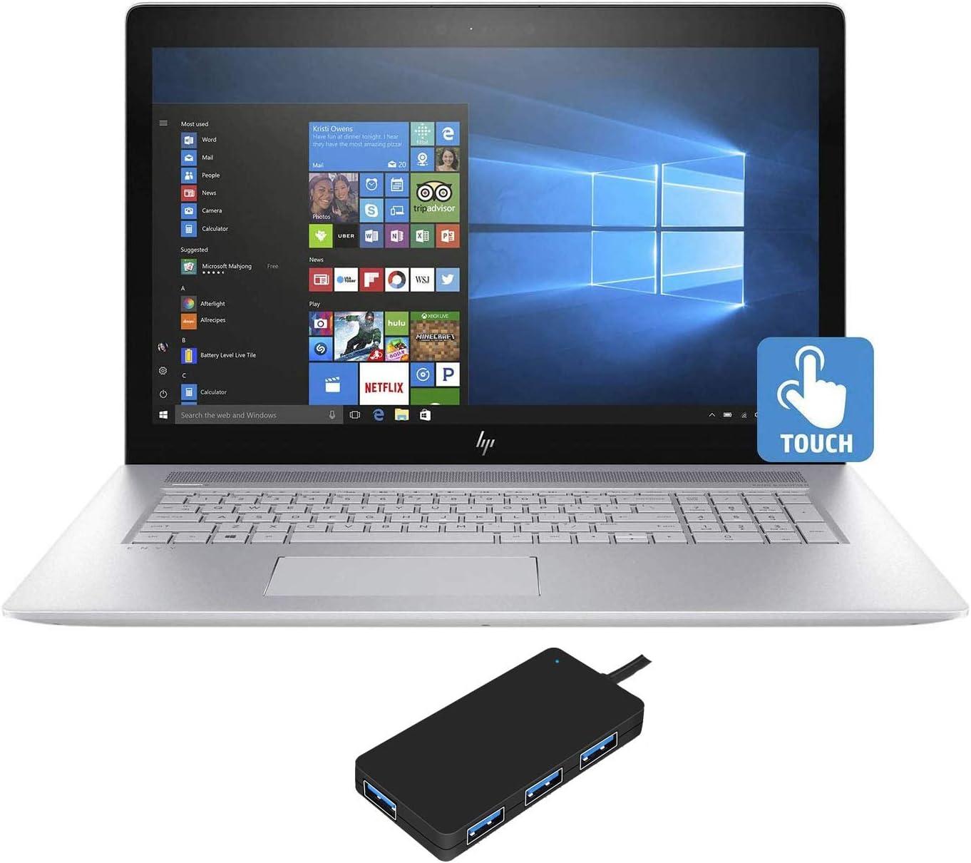 """HP Envy - 17t (2019) 10th Gen Laptop (Intel i7-10510U 4-Core, 16GB RAM, 512GB m.2 SATA SSD + 1TB HDD, NVIDIA GeForce MX250, 17.3"""" Touch Full HD (1920x1080), Fingerprint, WiFi, Win 10 Home)"""