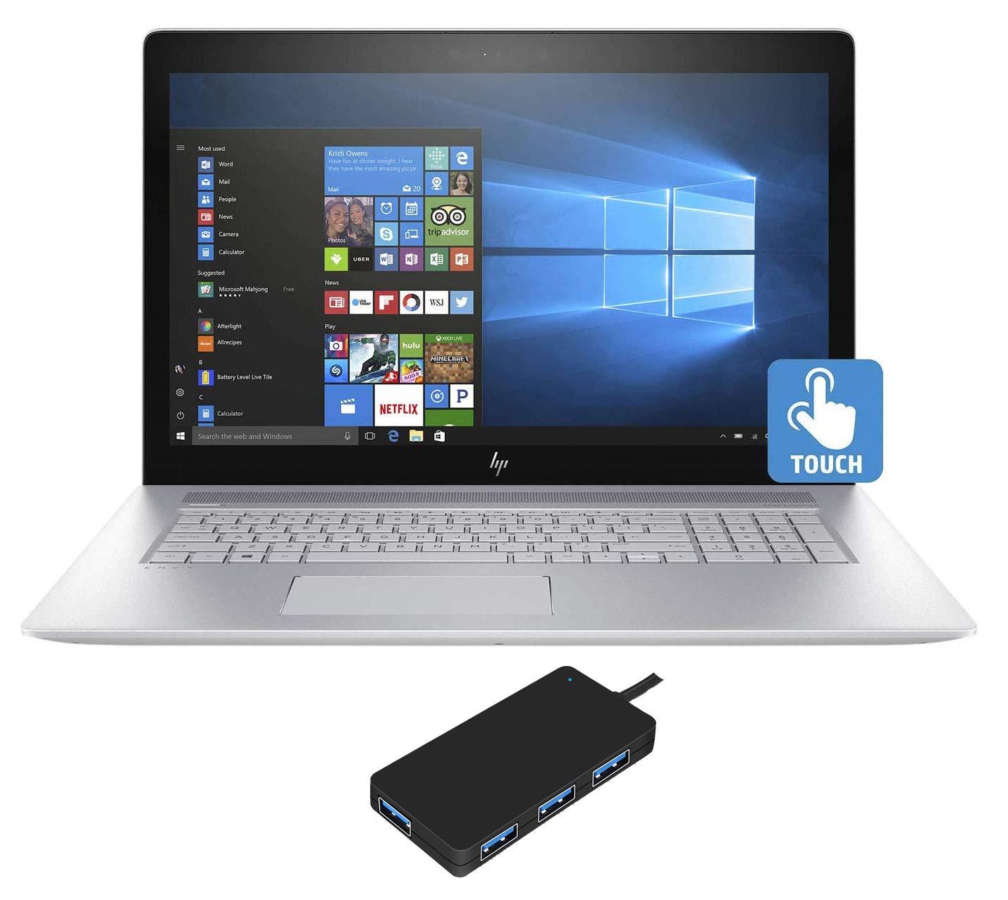 "HP Envy - 17t (2019) 10th Gen Laptop (Intel i7-10510U 4-Core, 16GB RAM, 512GB PCIe SSD, NVIDIA GeForce MX250, 17.3"" Touch Full HD (1920x1080), Fingerprint, WiFi, Bluetooth, Webcam, Win 10 Pro)"