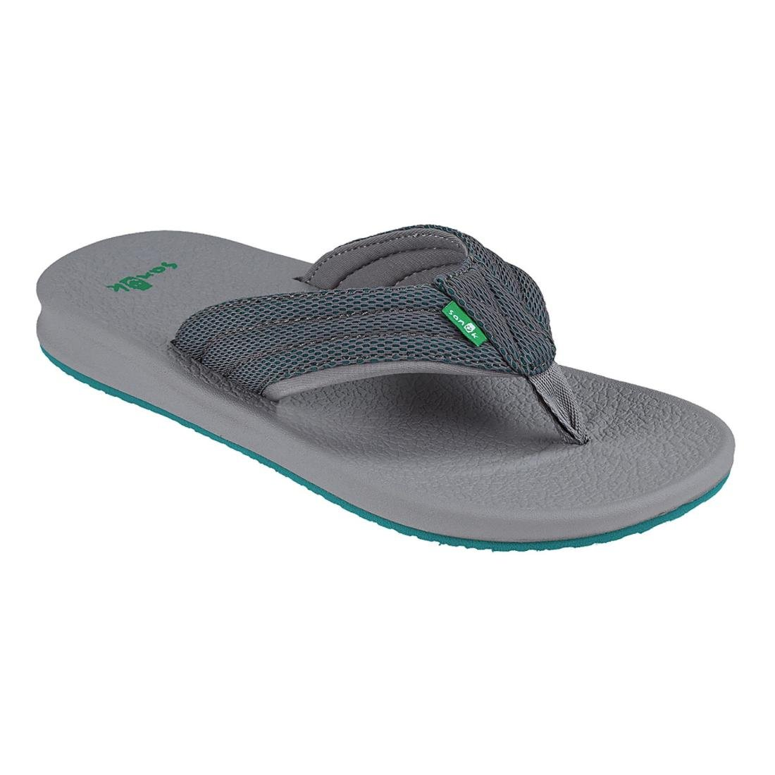 Sanuk Men's Brumeister Mesh Flip-Flop Charcoal/Grau/Teal