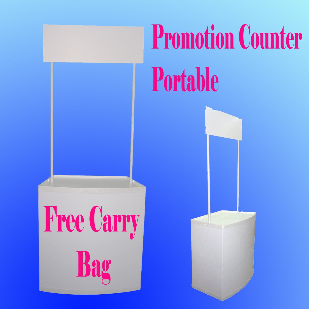 Promotion Counter Table Kiosk Trade Show Display Supermarket Demo Pop up Booth by Display Sign Mart