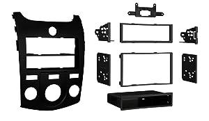 Metra 99-7338B Kia Forte 2010-Up Installation Dash Kit for Double DIN/ISO Radios, Black
