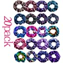 20 Pcs LivangRoler Hair Scrunchies Elastic Ponytail Holder Hair Bands