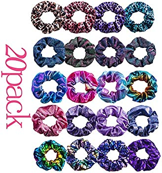 20 Pcs LivangRoler Hair Scrunchies Elastic Ponytail Holder Hair Bands