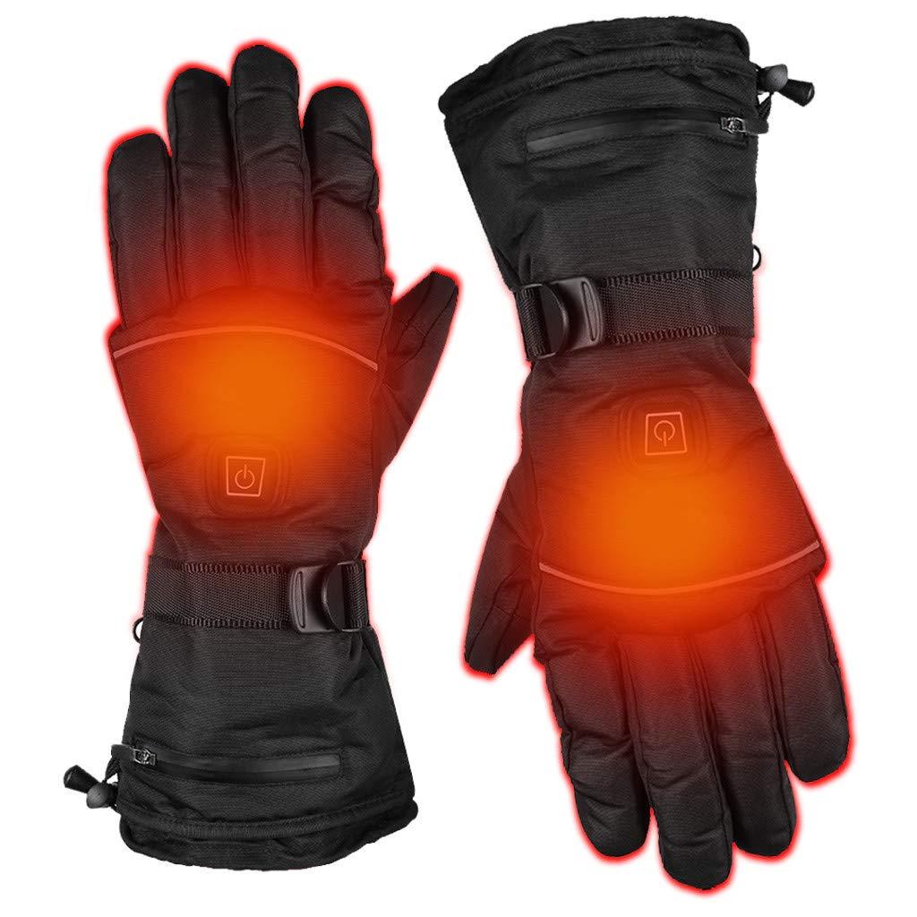 Winterhandschuhe Batterie Beheizt Skihandschuhe Einstellbare Temperatur f/ür Herren Damen Reiten Laufen Skifahren Wandern Radfahren Motorrad Handschuh HSKB Winter Warm Handschuhe