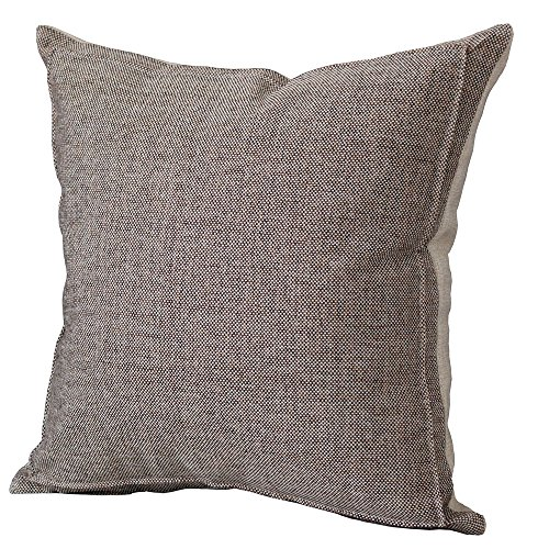Burlap Linen Throw Pillow Case Cushion Cover Home Decorative Solid Square Pillowcase, Thick, Luxury, Handmade with Invisible Zipper for Sofa Couch Bed (20 x 20 Inches, Beige/Light Coffee) Pillowcase Cushion Cover