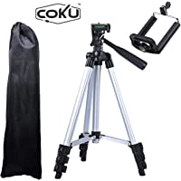 Coku TPD-3110-S Portable Travel Lightweight Aluminum Tripod for Mobile Phone with Nylon Carry Case | Smartphone Mount for All Smartphone & DSLR Camera
