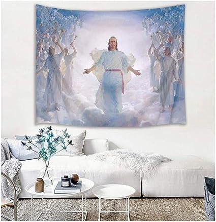 Jesus Christ Tapisserie Art Tenture Murale Table Couverture Poster