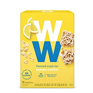 WW Lemon Cookie Mini Bar - High Protein Snack Bar, 2 SmartPoints - 1 Box (12 Count Total) - Weight Watchers Reimagined