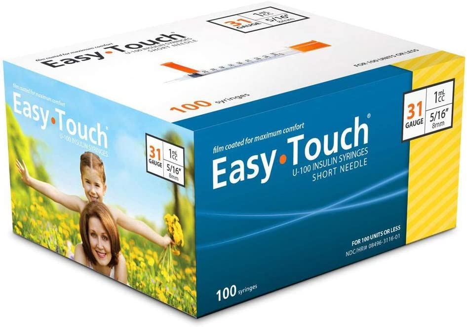 "EasyTouch® U-100-31G, 1cc/mL, 5/16"" (Box of 100): Health & Personal Care"