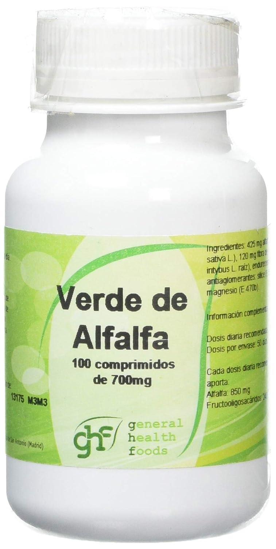 GHF - GHF Alfalfa 100 comprimidos 700mg: Amazon.es: Salud y cuidado personal