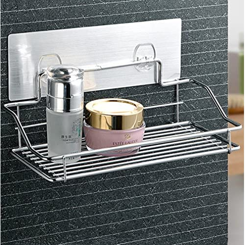 GDrems No Drilling Bathroom Shower Caddy For Shampoo, Conditioner, Soap    Stainless Steel