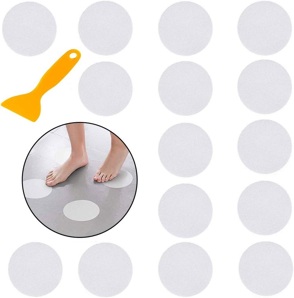 Scale e Altre Superfici Scivolose CHEPL Auto-adhesivo Sticker Antiscivolo Sticker Antiscivolo 20 Pezzi Adesivi Circolari Trasparenti per Vasca