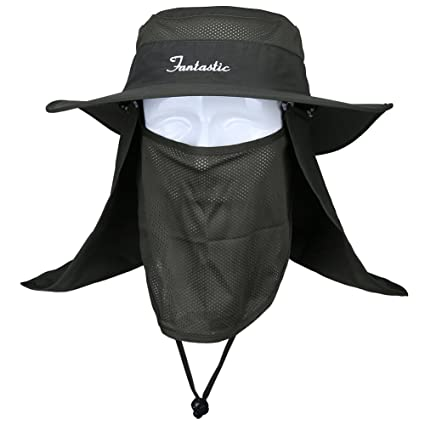 Fantastic Zone 360° UV Protection Summer Outdoor Sun Protection Fishing Cap  Neck Face Flap Hat 104f7879ee99