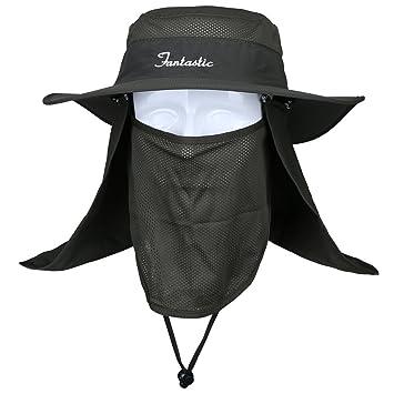 Lixada Sombrero para el Sol Ajustable Mujeres Hombres Gorra de Sol de ala Ancha con Solapa en el Cuello para Viajes Camping Senderismo Pesca Canotaje