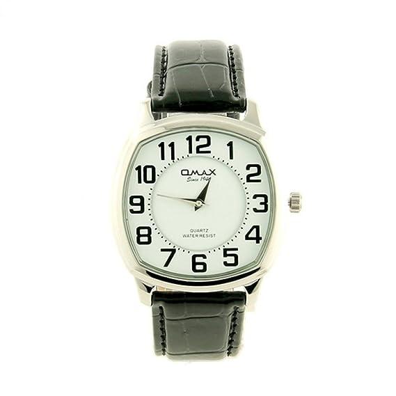 Reloj Omax reloj cuadrado hombre pulsera Negro My-Montre: Amazon.es: Relojes