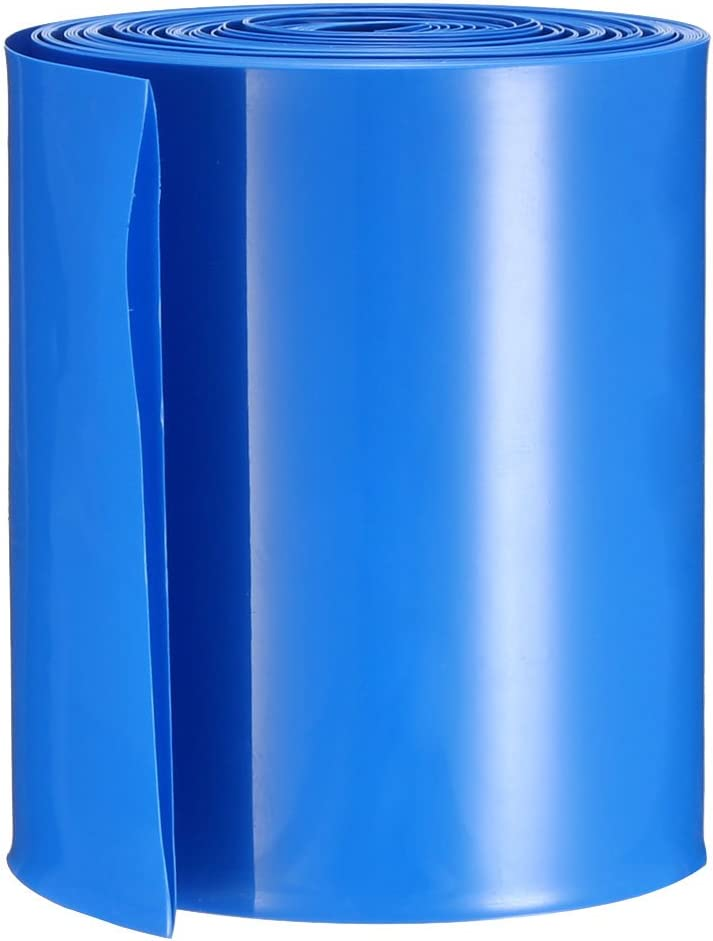 Clear uxcell/® PVC Heat Shrink Tubing 65mm Flat Width Heat Shrink Wrap Tube for AA Power Supplies 5 Meters Length