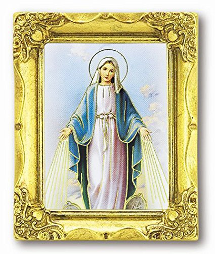 WJ Hirten 162-253 Our Lady of The Miraculous Medal Antique Frame (History Of Our Lady Of The Miraculous Medal)
