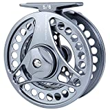 Cheap Burning Shark Fly Fishing Reel,2+1 BB Light Weight Space Aluminum Waterproof Fly Reels,5/6 WT
